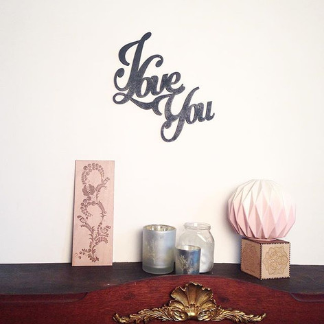 Décoration murale _ I Love You ___#homed