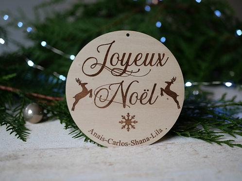 Mon premier Noël/ Joyeux Noël -Cerf- décoration personnalisable