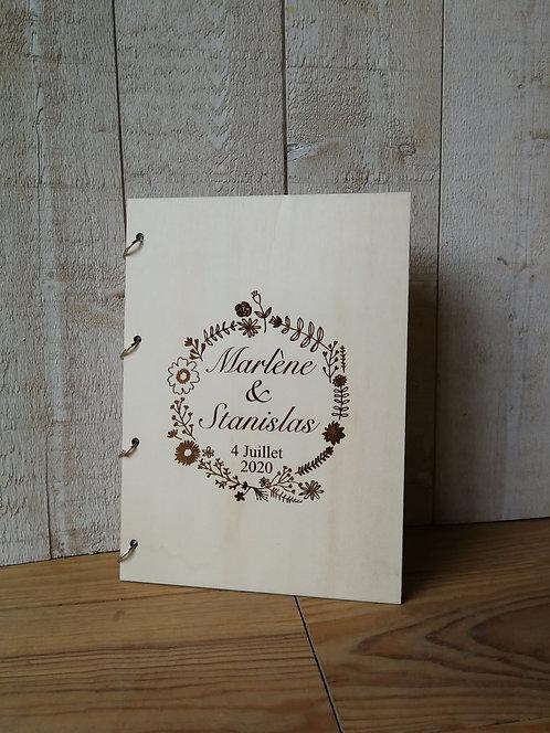 Livre d'or MARIAGE différents motifs - bois-