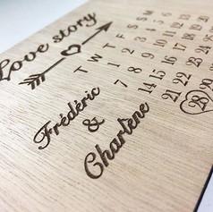 - Love Story -__#woodengraving #carte #g