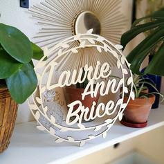 Enseigne en bois__Laurie Ann & Brice___#