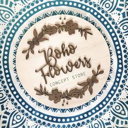 Enseigne en bois réalisée pour _bohoflowersstore _#logo #bohoflowersstore #lapetitecreativ