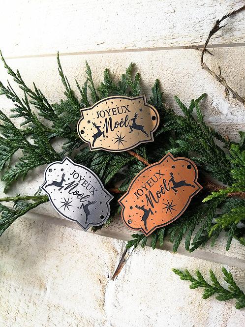 Etiquettes de Noël décoration cadeaux