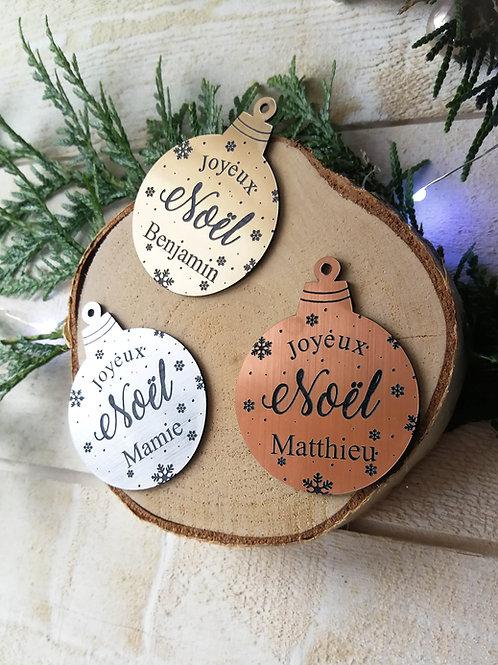 Marque place boule de Noël