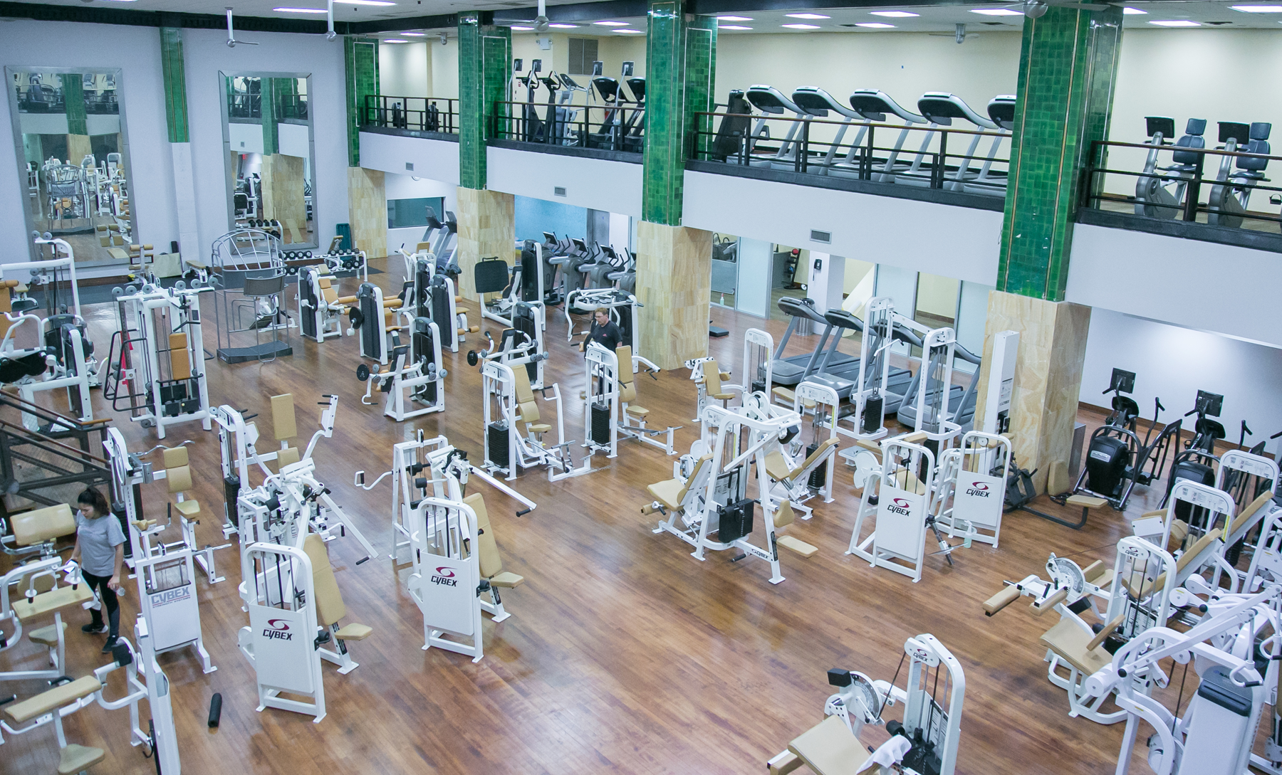 One of the gym facilities