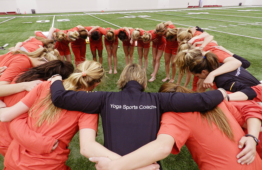 2013: Hayley Winter delivering a YSS session to the women's soccer team at the University of New Mexico
