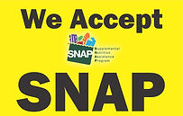 Yellow We accept SNAP large logo Sign ou