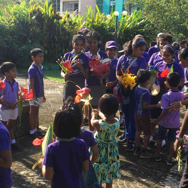 Ms. Fazreens class from the LPF academy received a warm welcome from the students in the Early years - Galle
