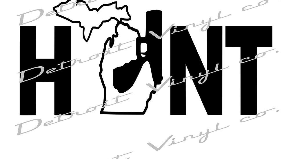 HUNT with Michigan Holding Gun