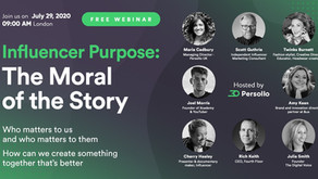Persollo Webinar 4: Influencer Purpose: The Moral of the Story
