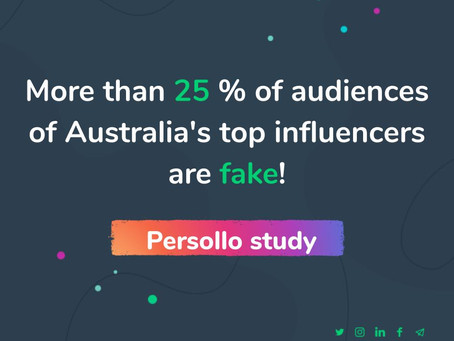 Study: More than 25% of Australia's top influencers audience is fake!