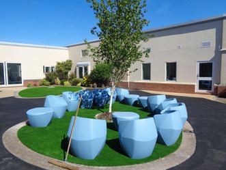 Project Handover - Rathbone Hospital Courtyard, Liverpool.