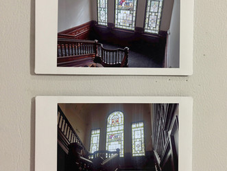Refurbishment to the staircase and stained glass windows, as part of the Alder Grange residential de