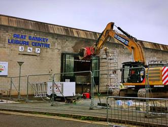 Construction team preparing to renovate Great Sankey leisure centre