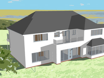 Concept model design for a house in Hoylake, which overlooks the stunning River Dee Estuary