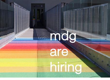 MDG are hiring!