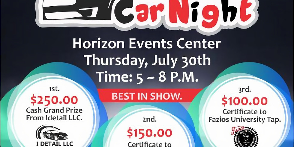 Fly Ride Invitational Car Night