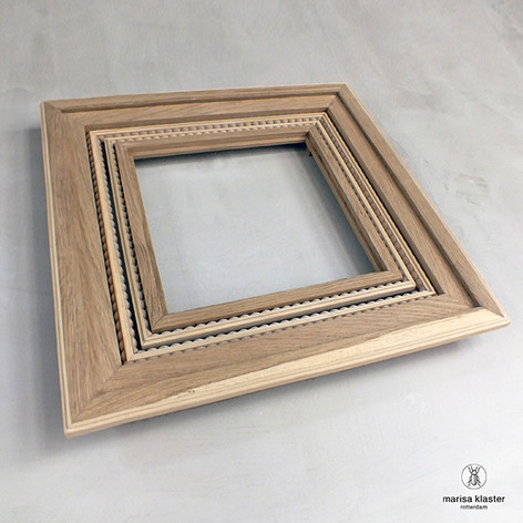 Reframed, intertwined woodwork, by Marisa Klaster [Nr 1, 2019]