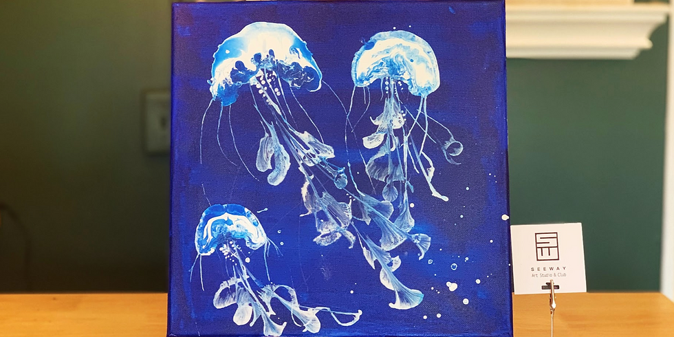 ACRYLIC POURING: JELLYFISH