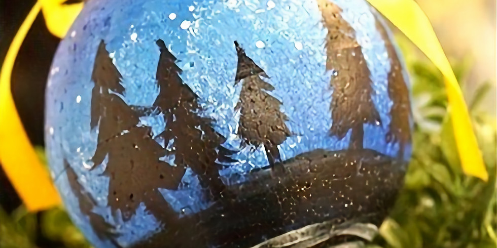 CHRISTMAS ORNAMENTS PAINTING: NIGHT