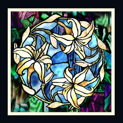 FAUX STAINED GLASS ART
