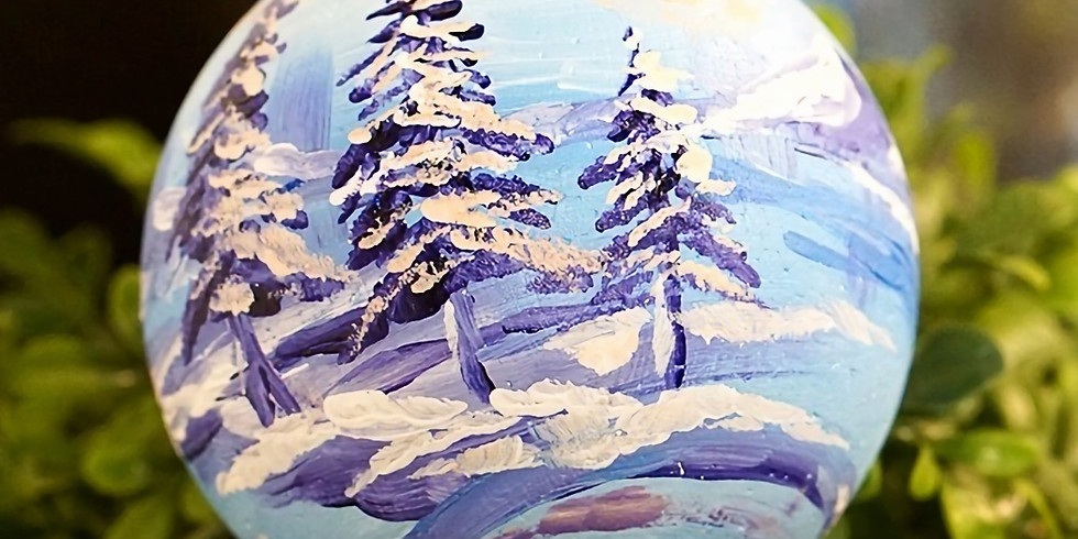 CHRISTMAS ORNAMENTS PAINTING: SNOW