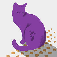 Chat pourpre
