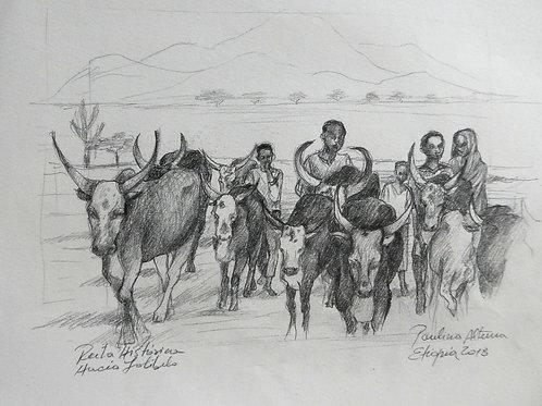 Route historique à Lalibela, Ethiopie