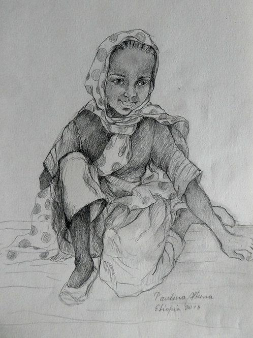Petite fille à Tissisat, Ethiopie