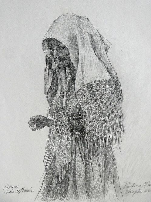 Fille à Axoum, Ethiopie