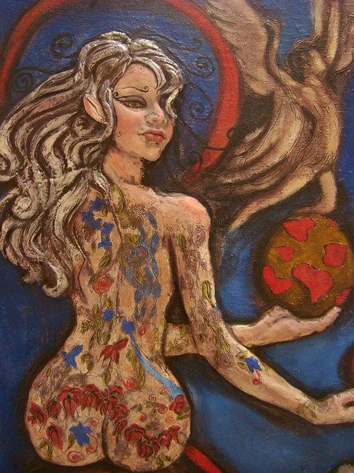 Lilith, haute relief 100 x 60 x 5 cm