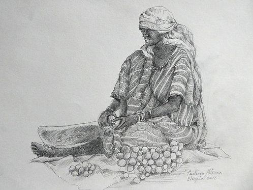 Vendeuse de goyave, Ethiopie