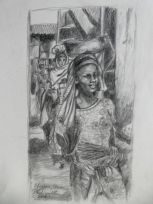Femmes au marché d'Harar, Ethiopie