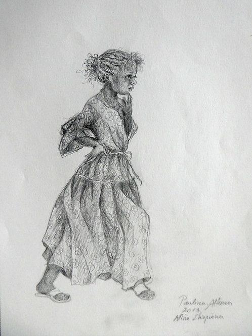 Fille à la campagne, Ethiopie