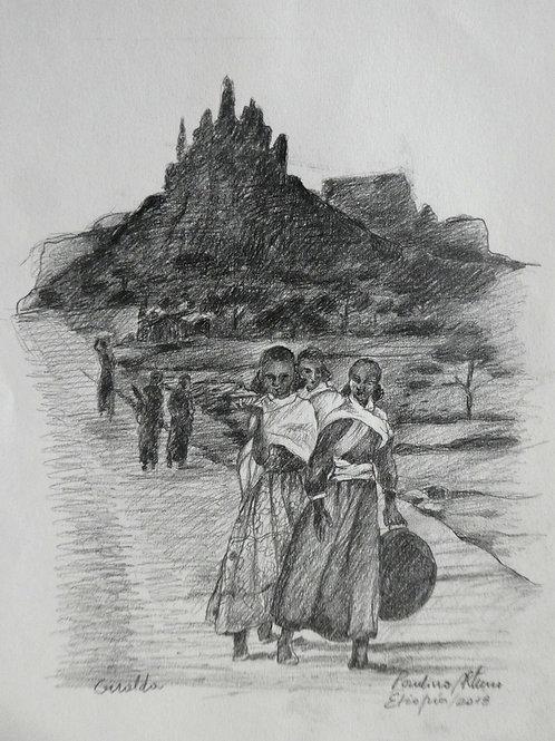 vers les montagnes de Gheralta, Ethiopie