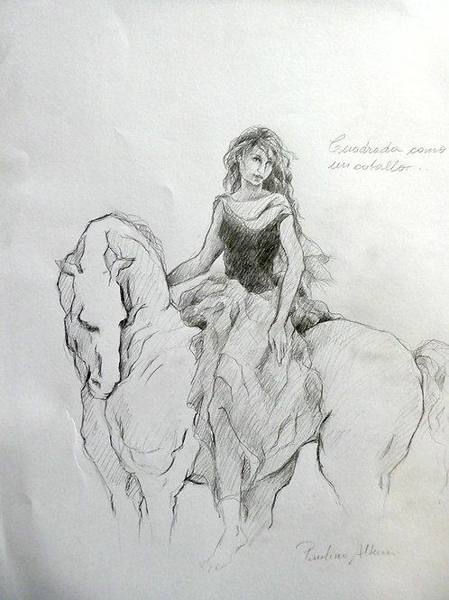 Série chevaux   40 x 30 cm