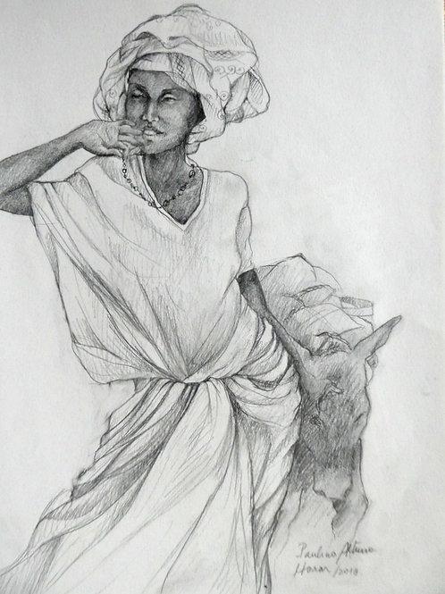 Femme au marché d'Harar, Ethiopie