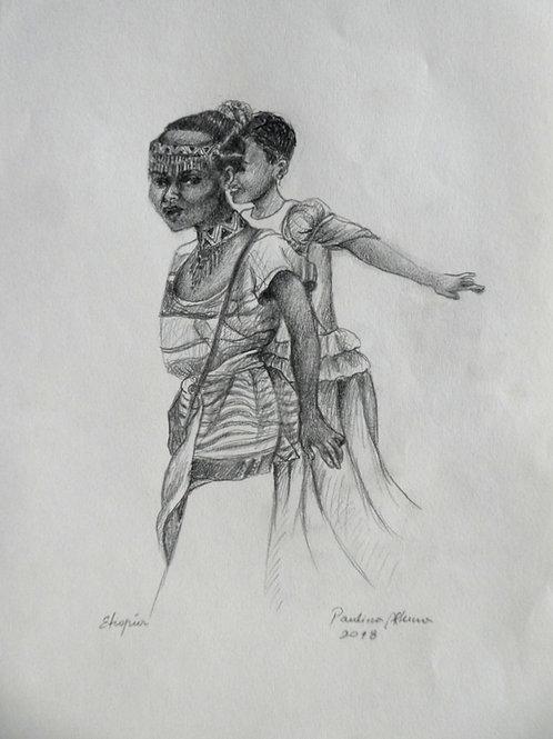 Deux filles éthiopiennes