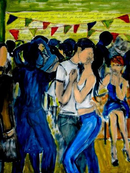 Bachata, 120 x 100 cm, acrylique sur toile