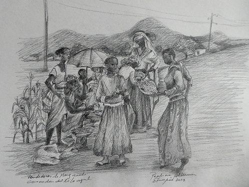 Vers les cascades du Nil bleu, Ethiopie