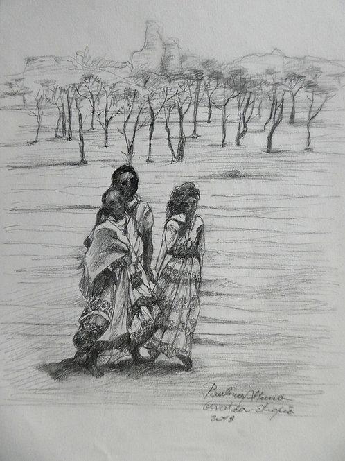 Femmes à Gheralta, Ethiopie