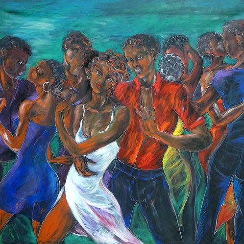 Série Salsa, Negro José, 220 x 220 cm