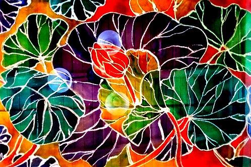 Peinture sur verre 60 x 40 cm