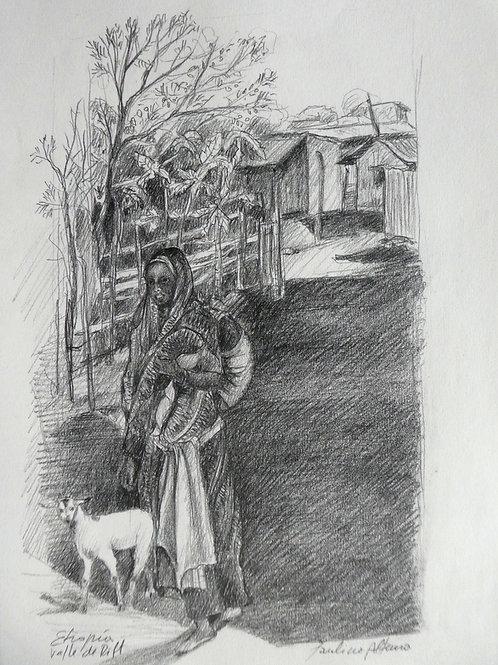 Vers le marché, Ethiopie