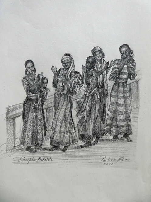 Filles à Mekelele, Ethiopie