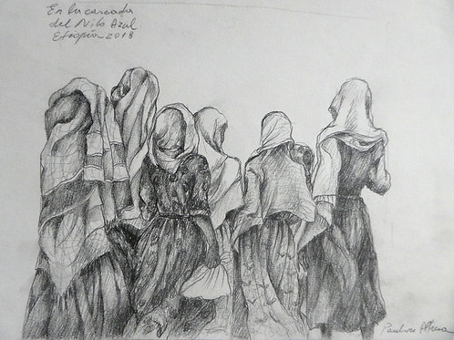 Femmes vers les cascades du Nil bleu, Ethiopie