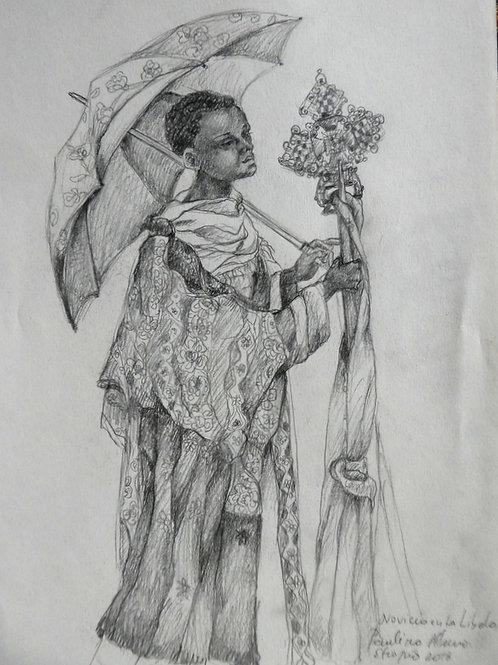 Jeune moine à Lalibela, Ethiopie