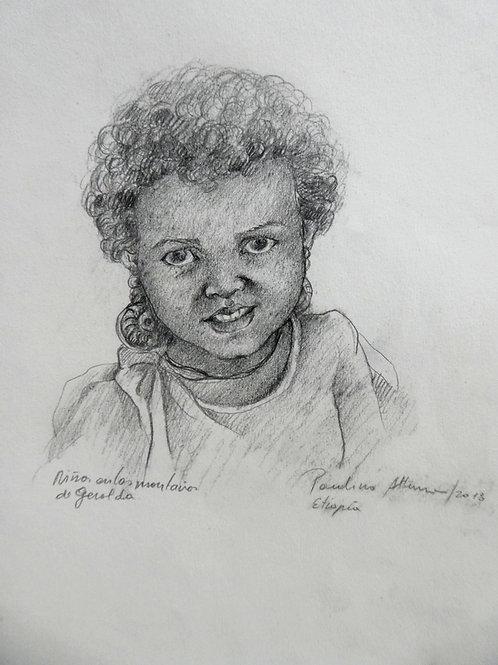 Petite fille dans les montagnes de Gheralta, Ethiopie