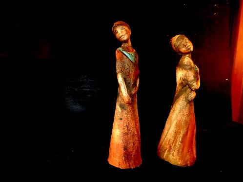 Figures féminines, 8 x 5 x 5 cm