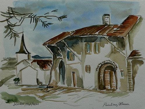 Paysage Suisse  15 x 20 cm